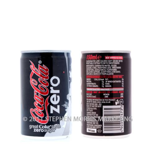Aluminium Coca-Cola Zero. Product Code C10-0