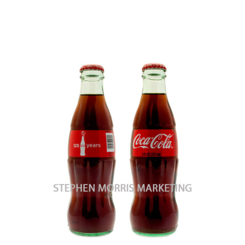 Coca-Cola USA - 125yrs bottle. Product Code CCC-0009-0