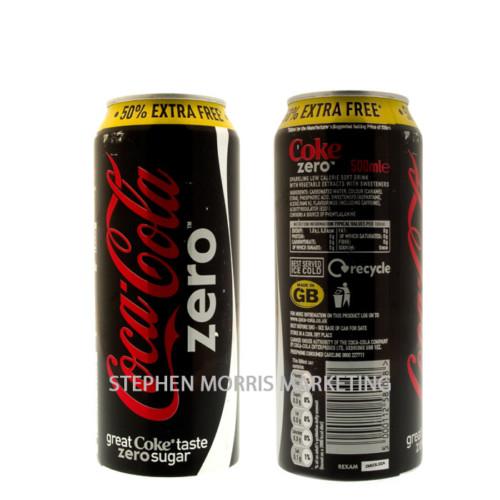 Coca-Cola Zero Can. Product Code CCC-0007-0