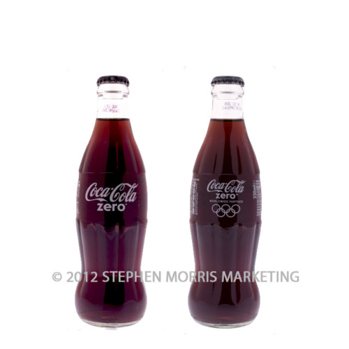 Coca-Cola Zero Olympics Bottle 2012. Product Code CCC-0004-0