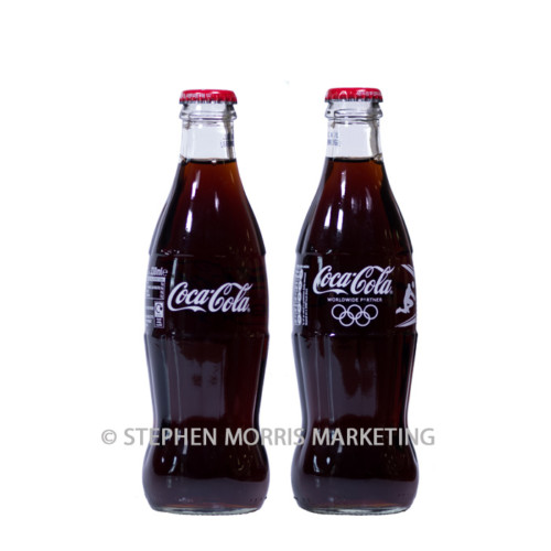 Coca-Cola bottle featuring basketball motif. Product Code CCC-0017-0