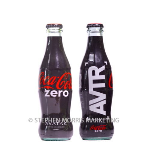 Turkish AVATAR glass zero bottle. Product Code CCC-0050-0