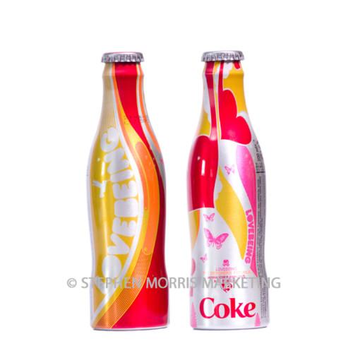 Belgian aluminium 'Lovebeing' bottle 2006. Product Code CCC-0053-0