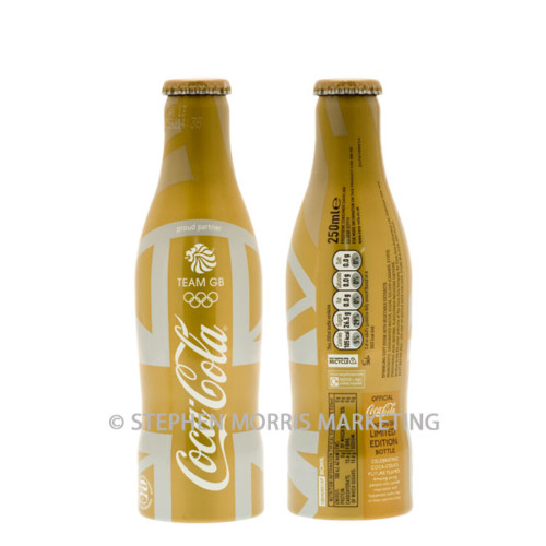 UK Olympics 2012 'Team GB' gold aluminium bottle. Product Code CCC-0064-0