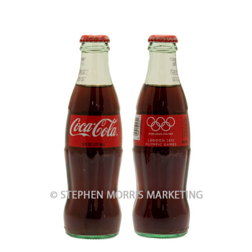 2012 Olympic Games iconic glass Coca-Cola bottle from the USA. Product Code CCC-0071-0