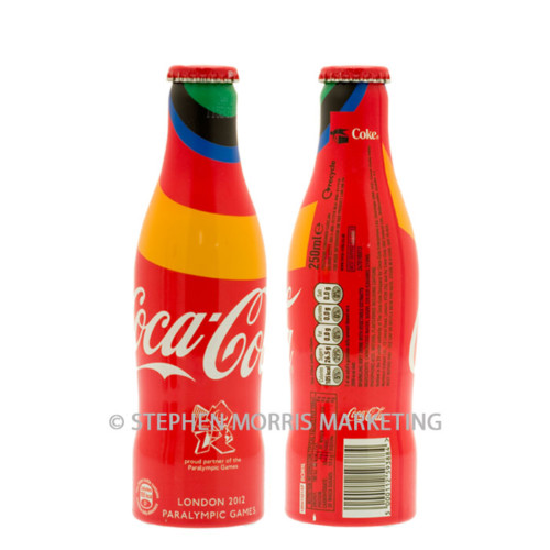 2012 Paralympic Games Coca-Cola UK aluminium bottle. Product Code CCC-0073-0