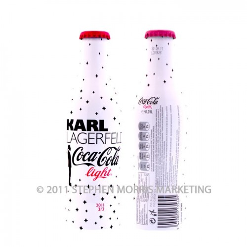 Coca-Cola Collectibles Light Bottle 'Karl Lagerfeld' - 2011